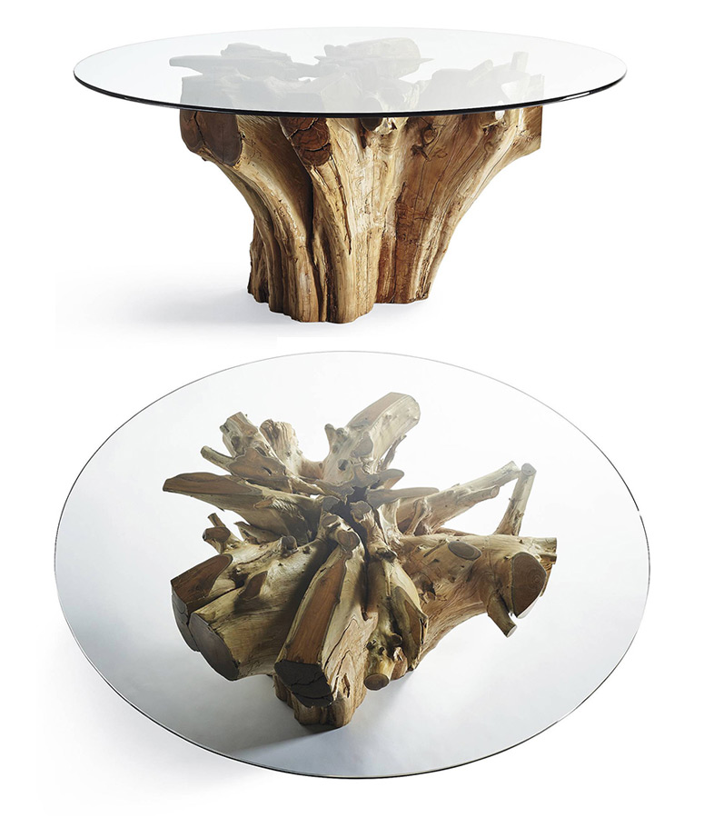 Charming Majestic Teak Root Dining Table Pictures