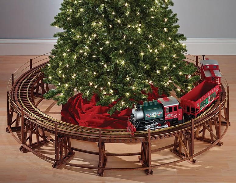 Manhattan Railway Christmas Tree Train Trestle Set The