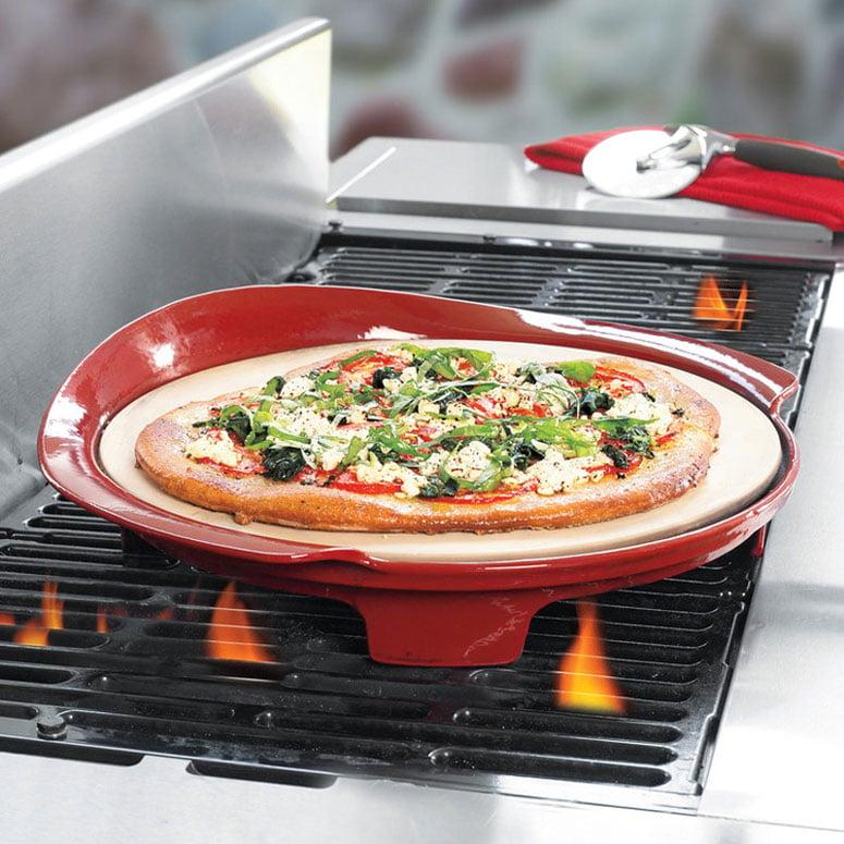 mario batali italian pizza stone for the grill. Black Bedroom Furniture Sets. Home Design Ideas