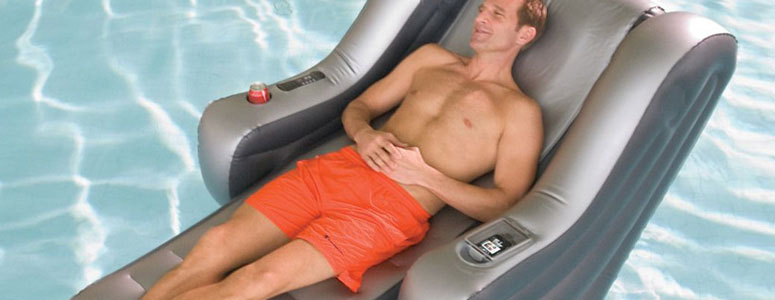 Massaging Pool Lounger