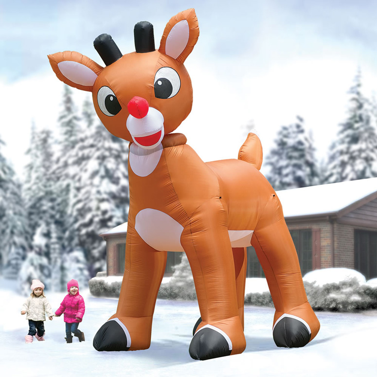 Massive 15' Inflatable Animated Rudolph the Red-Nosed Reindeer
