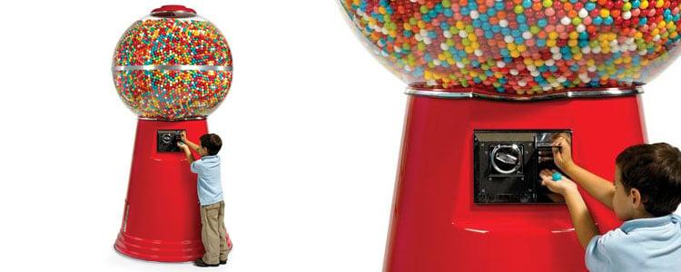 frozen bubble gum machine
