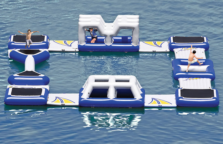 Massive Floating Obstacle Course The Green Head