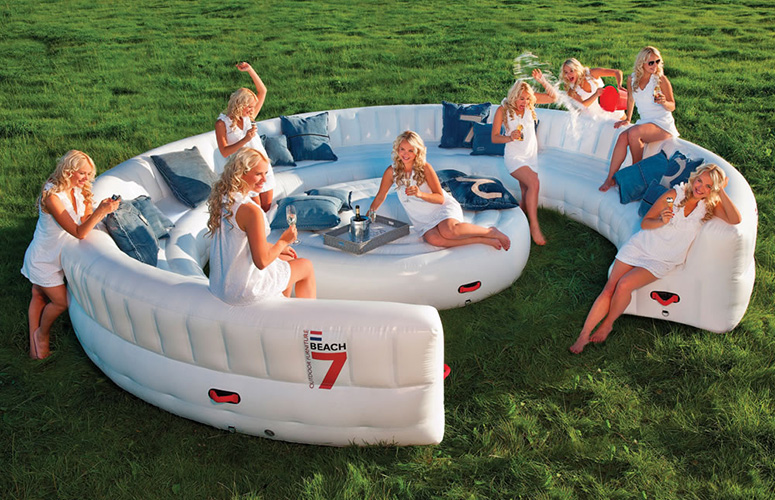 Massive Inflatable Outdoor Party Sofa   Seats 30 Guests!