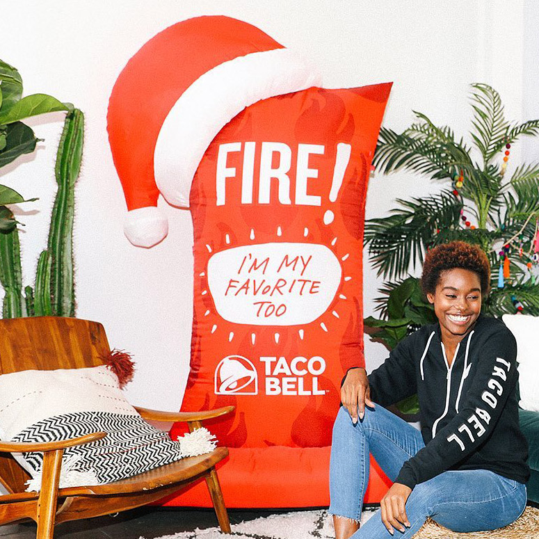 Massive Inflatable Taco Bell Fire Sauce Packet