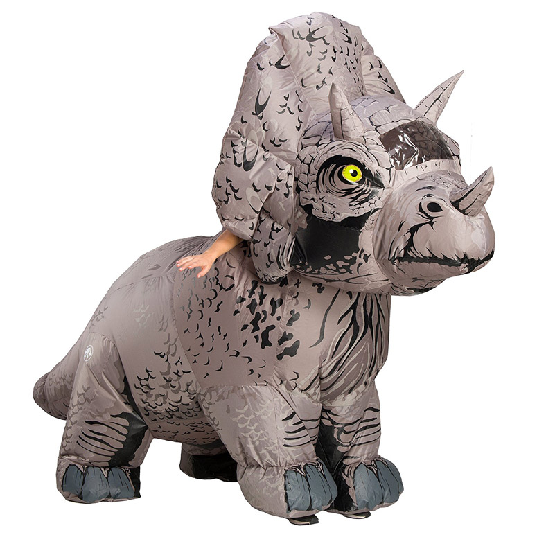 Massive Inflatable Triceratops Dinosaur Costume