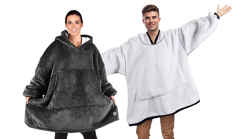 2e316c55 Massive Oversized Sherpa Hoodie Sweatshirt Blanket