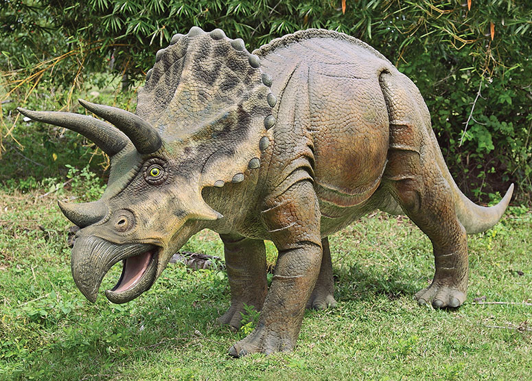 Massive Triceratops Dinosaur Statue The Green Head