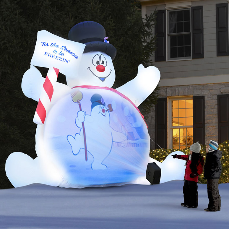 Massive Video Projecting Inflatable Frosty The Snowman