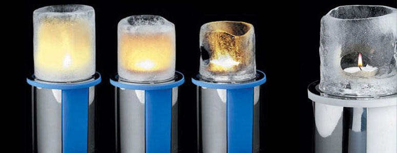 Mathmos Thaw - Fire and Ice Candle Holder