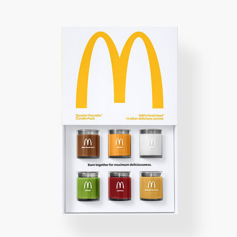 McDonald's Quarter Pounder Scented Candles