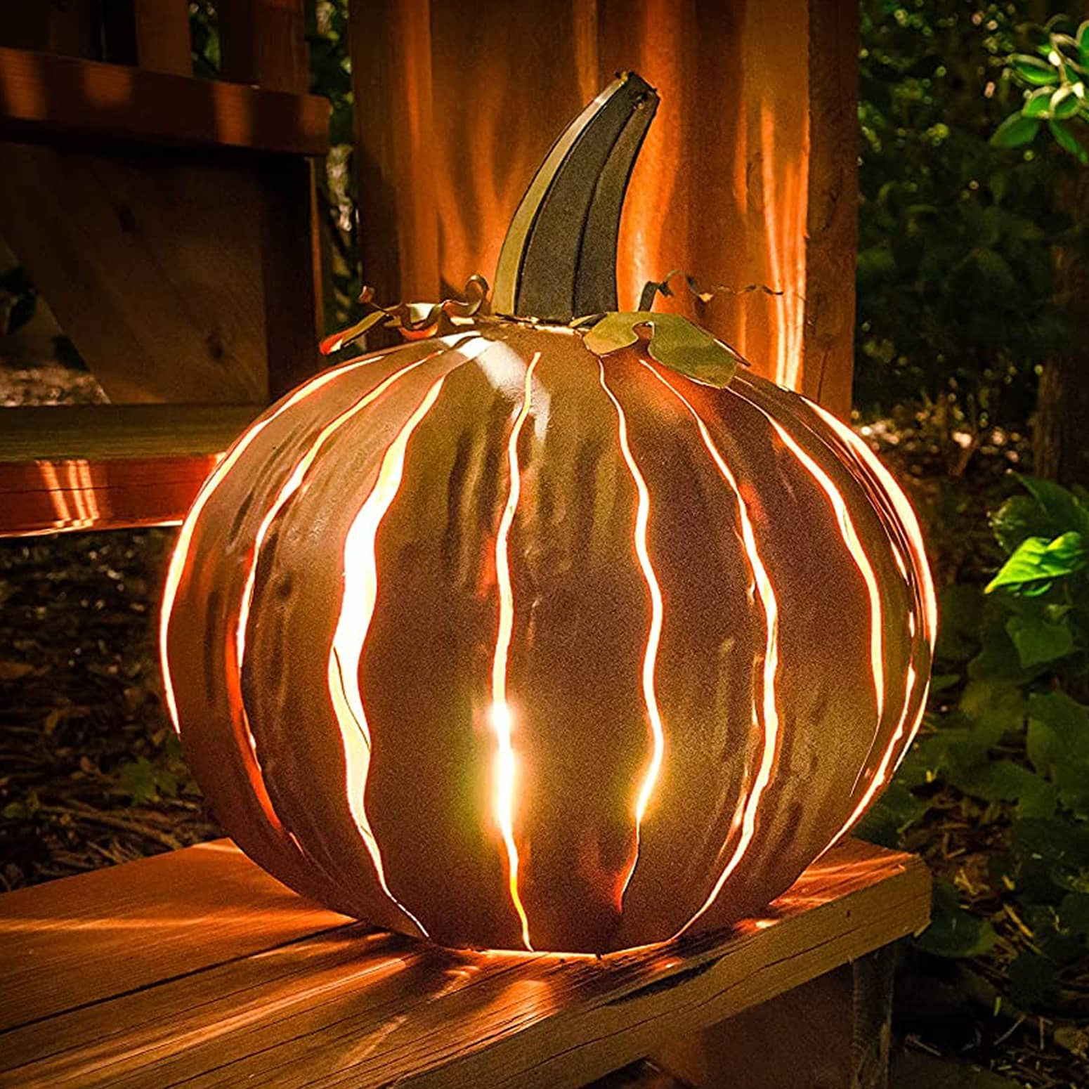 Metal Pumpkin Luminary The Green Head
