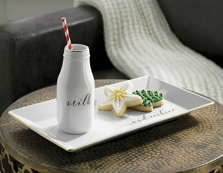 Milk and Cookies Tray Set