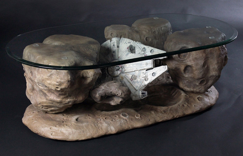 Millennium Falcon Asteroid Coffee Table The Green Head