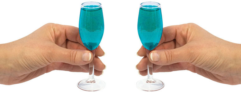 Mini Champagne Shot Glasses