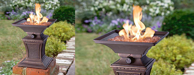 Mini Gas Fire Pit Pedestal The Green Head