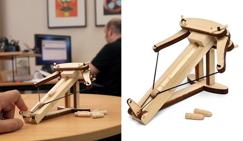 Miniature Ballista Kit Wooden Desktop Warfare The