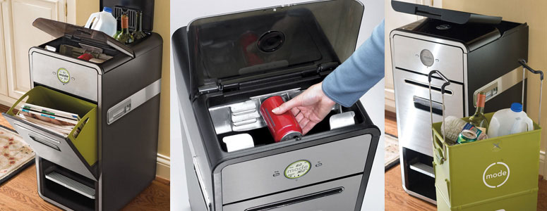 Mode All-In-One Home Recycling System with Mechanical Compactor