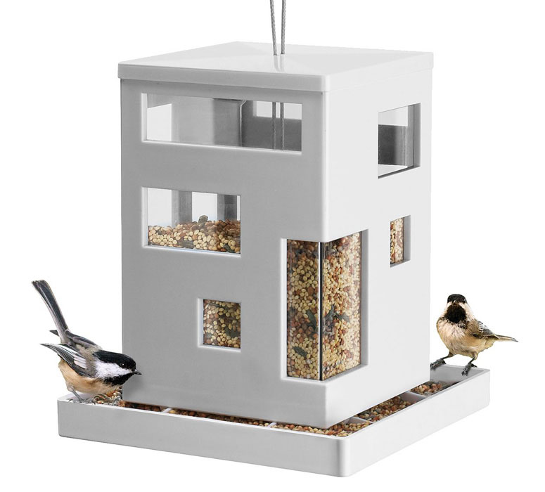 modern bird cafe feeder the green head. Black Bedroom Furniture Sets. Home Design Ideas