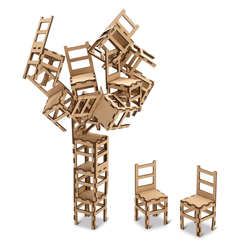 moma sculptural chair stacking game the green head