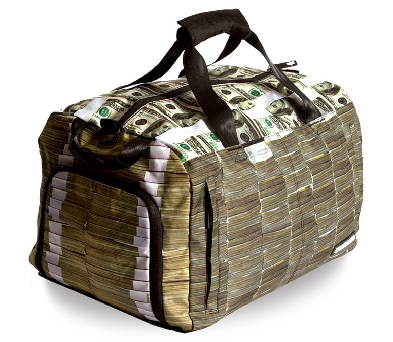 Money Stacks Duffle Bag