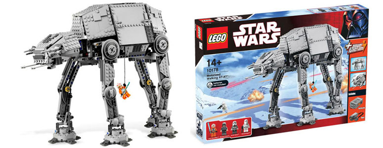 motorized walking star wars lego at at the green head. Black Bedroom Furniture Sets. Home Design Ideas