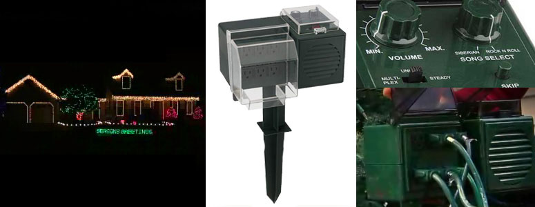 amazing synchronized christmas light sound device outdoors