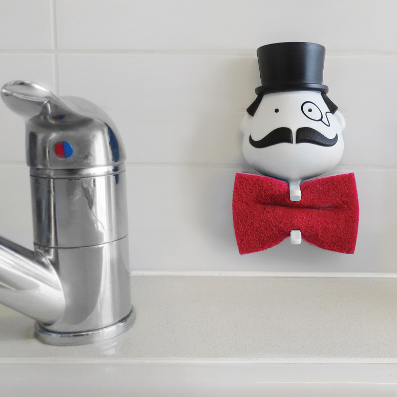 Mr. Sponge - Bow Tie Scrub Sponge Holder