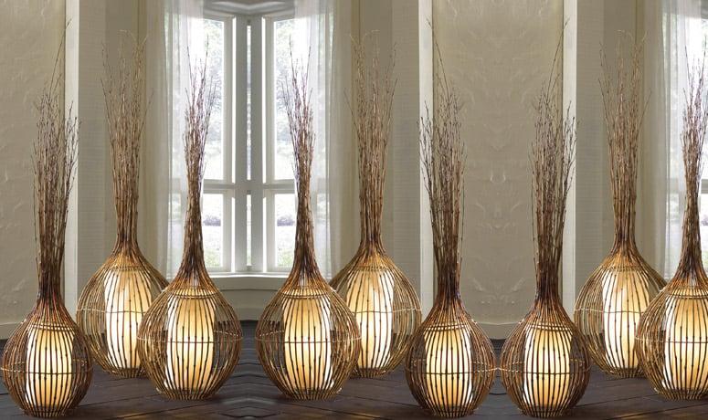 Natural Bamboo Lamps - The Green Head