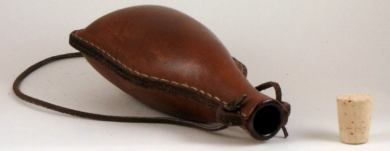 Natural Leather Flask The Green Head