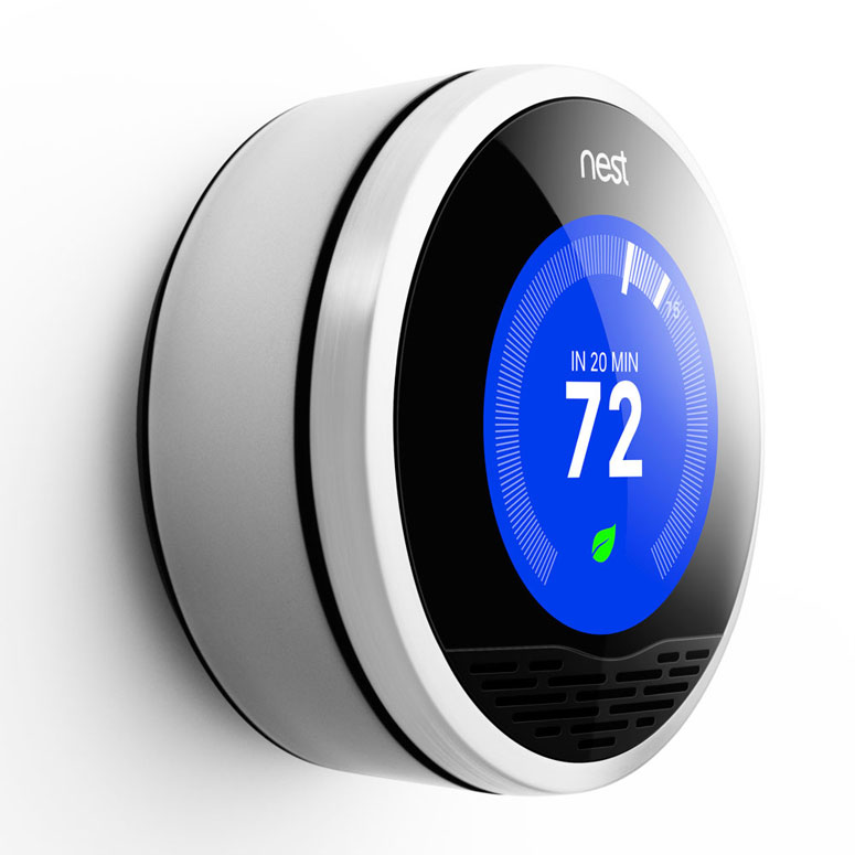 Nest learning thermostat the green head - Nest thermostat stylish home temperature control ...