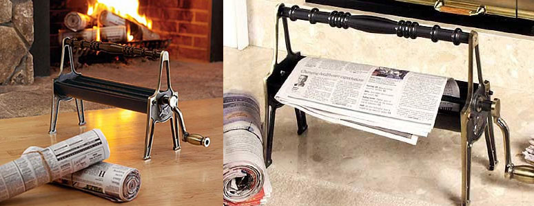 Newspaper Log Roller - Create Your Own Starter Logs!