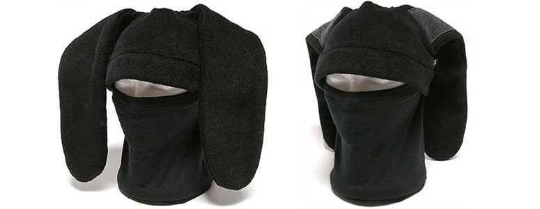 Ninja Bunny Mask w/ Secret Pockets Hidden in the Ears