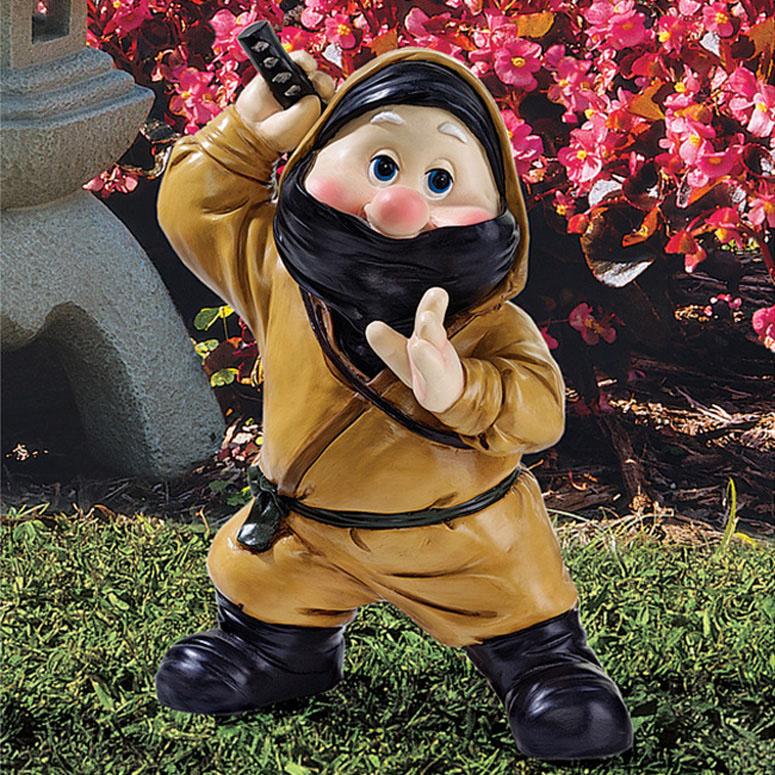 Garden Gnomes With Guns how do you feel about modern concepts like guns and ninjas in