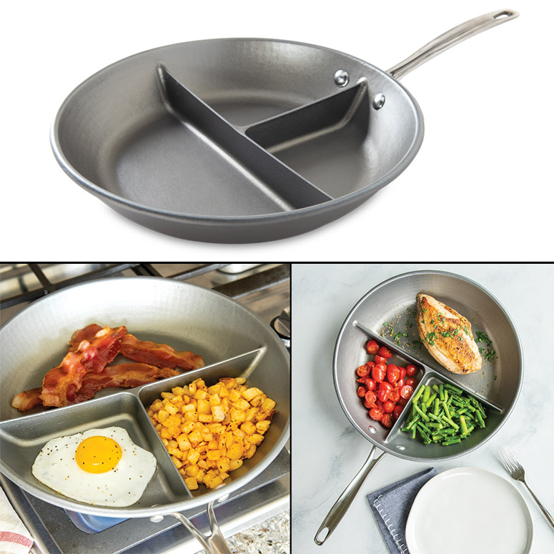 Nordic Ware 3-in-1 Divided Pan  - Cook Three Foods At Once!