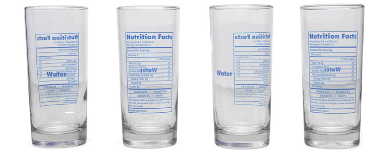 Nutrition Facts Of Water Glasses