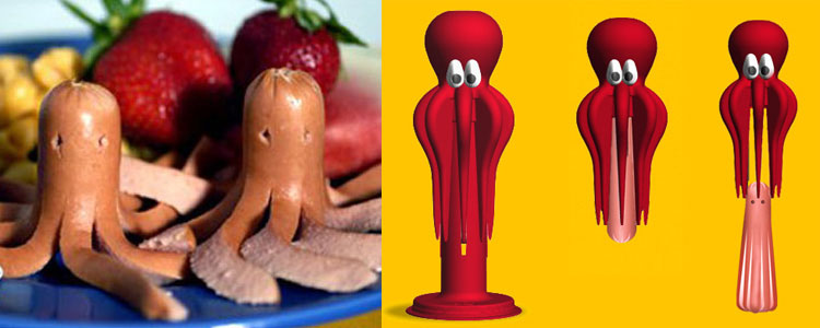 Octodog - Turn Hot Dogs into Octopuses!