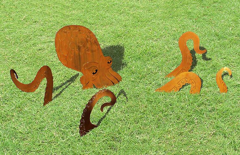 Octopus Garden Sculpture The Green Head