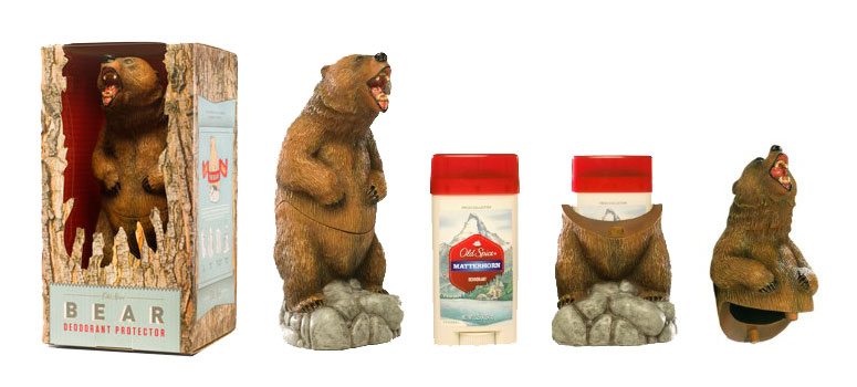 Old Spice Bear Deodorant Protector The Green Head