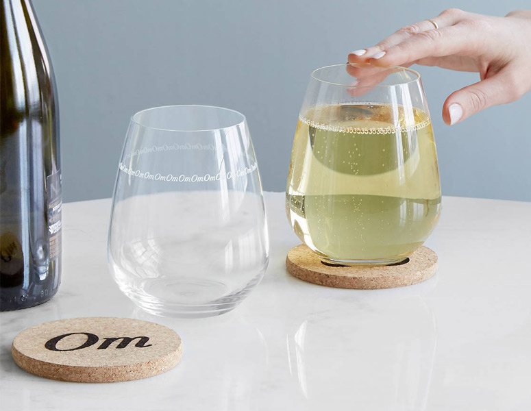 OM Sound Wine Glasses - Vibrate at the Same Frequency of the Universe