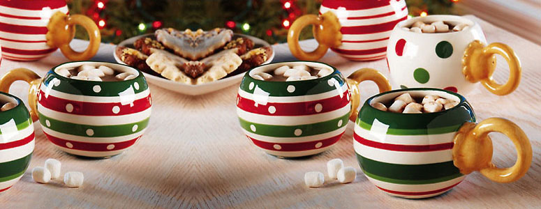 Ornament Ball Holiday Mugs - Set of 4