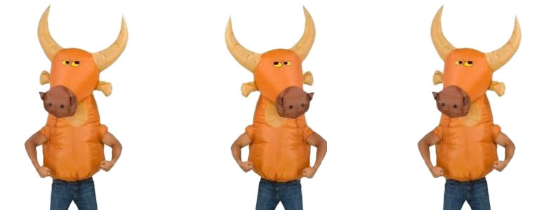 Oversized Inflatable Bull Head Costume