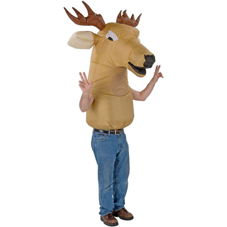 Oversized Inflatable Deer Head Costume