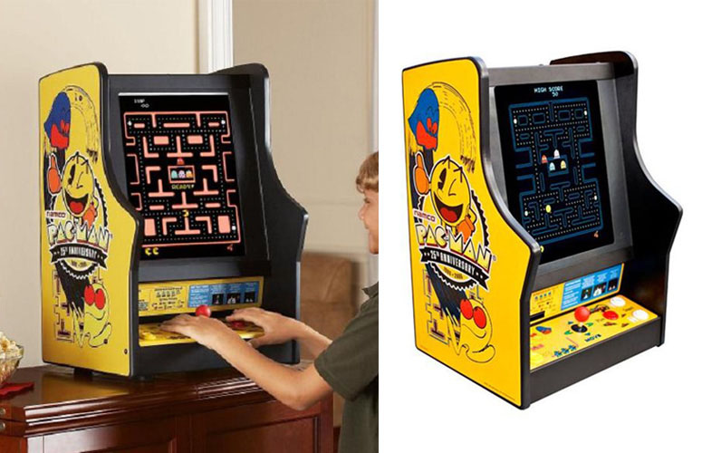 Pacman Table Game >> Pac Man Ms Pac Man Galaga Tabletop Arcade Game