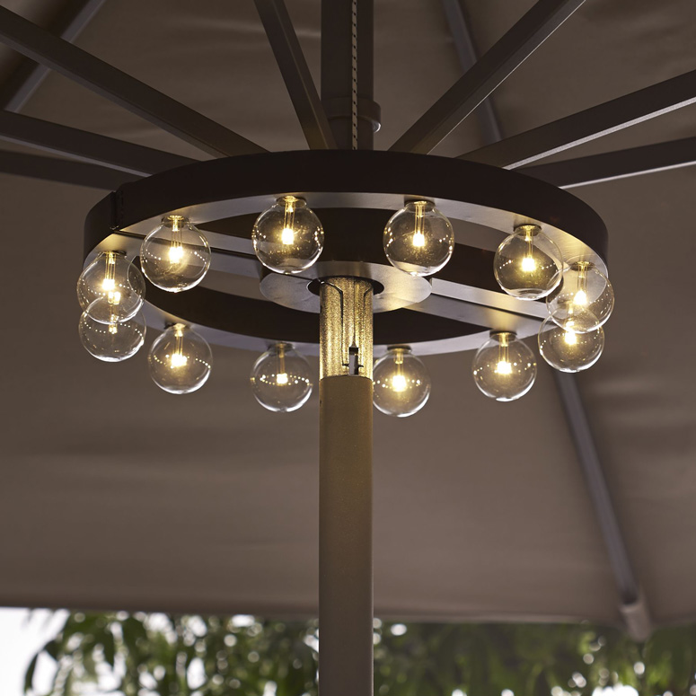 Merveilleux Patio Umbrella Marquee Lights
