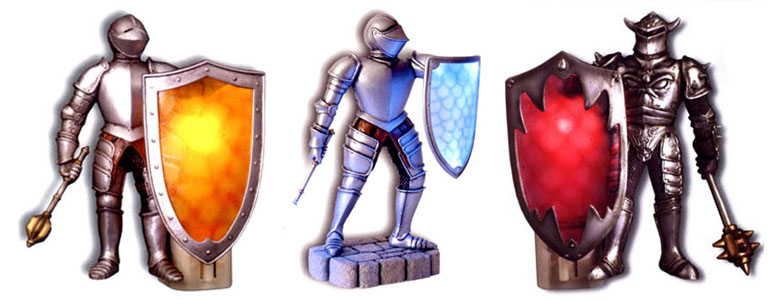 Plug-In Medieval Knight Lights