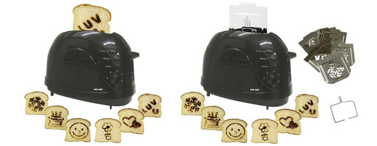 Pop Art Toaster Brand Images Onto Your Toast