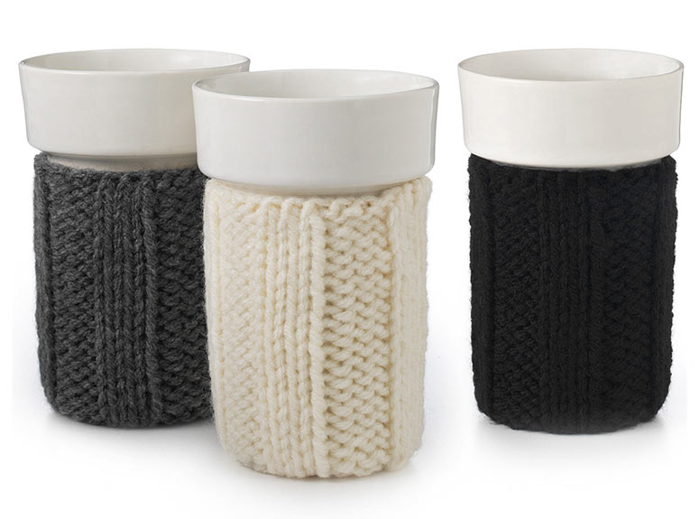 Porcelain Cups With Sweater Sleeves