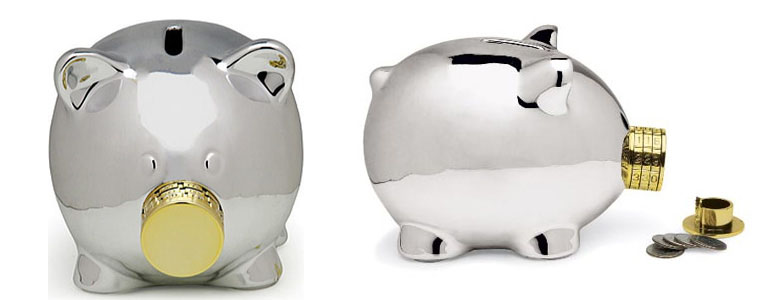 pork knox combination lock piggy bank