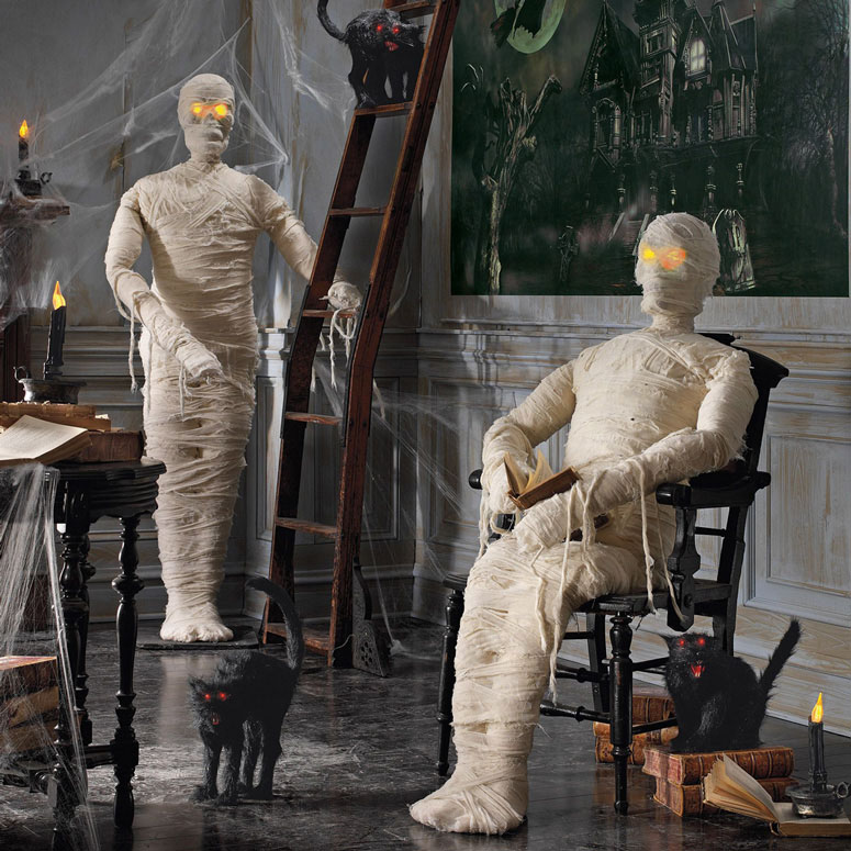 Posable Lifesized Wrapped Mummy Statues The Green Head